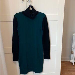Aqua Cashmere 100% Cashmere turtleneck dress